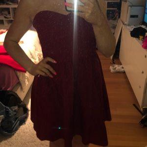 lauren james strapless game day dress